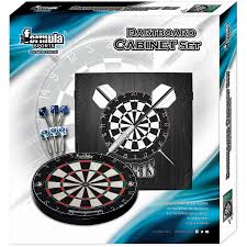 black dart board cabinet formula sports dartboard cabinet set big w
