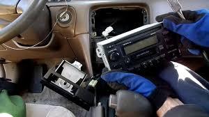 toyota camry radio removal youtube
