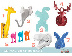 fun coat hooks colorful animal hook round up via stately kitsch from stately