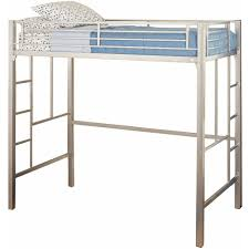 Twin Metal Loft Bed With Desk Loft Beds Walmart Com