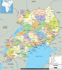 Large Map Of The World Large Detailed Administrative Map Of Uganda With All Cities Roads