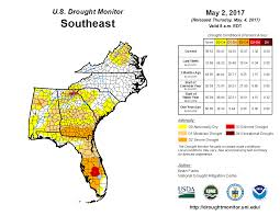 Florida And Georgia Map by Drought April 2017 State Of The Climate National Centers For
