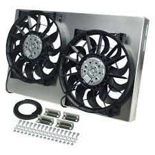 electric radiator fans and shrouds derale performance dual electric radiator fan with aluminum