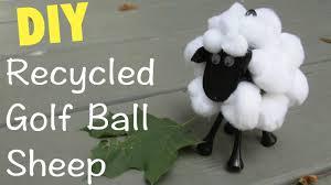 sheep golf ball diy recycling craft series craft klatch youtube