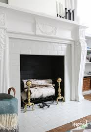 fireplace cool painting inside of fireplace design decor classy