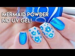 mermaid powder on regular nail polish no uv gel mermaid