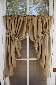 Prairie Curtains Burlap Prairie Swag Textiles U0026 Curtains Curtains And Table