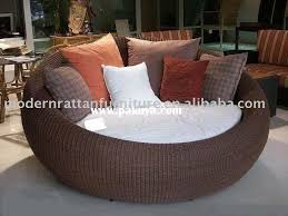 Circular Patio Seating Itugek Round Outdoor Furniture Wicker White Garden Chairs