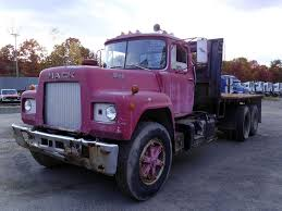 used mack trucks 1977 mack r685st tandem axle flatbed truck for sale by arthur