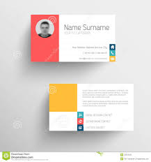 modern business card template with flat user interface stock photo