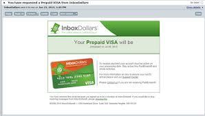 prepaid account how do i request a prepaid visa card inboxdollars
