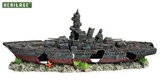 heritage aquarium fish tank warship battleship boat ship wreck