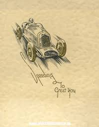 classic car related greetings cards from the 1930s 1950s