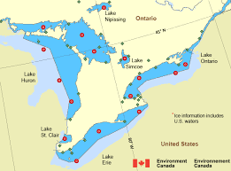 canadian map with great lakes western lake ontario lake erie and lake ontario environment canada