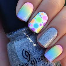 spring and summer nails 2016 photo rainbow ombre nail design for