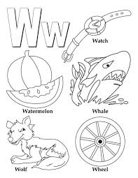w alphabet words world free alphabet coloring pages wreath free