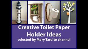creative toilet paper holder ideas youtube