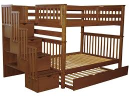Bunk Beds Full Over Full Stairway Expresso Trundle - Full over full bunk bed with trundle