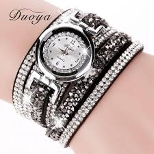 crystal bracelet watches images Duoya new brand fashion women gold long bracelet watch crystal jpg