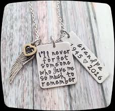 personalized remembrance jewelry memorial jewelry remembrance sympathy necklace loss of