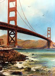 san francisco golden gate bridge paintings fine art america