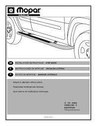 jeep instructions jeep liberty side rails installation instructions jeep world