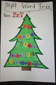 sight word christmas trees could practice any words under the sun