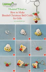 how to make beaded christmas bell crafts for gifts christmas