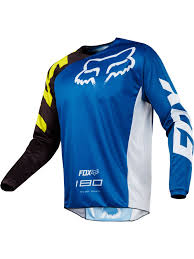 childrens motocross gear fox blue 2018 180 race kids mx jersey fox freestylextreme