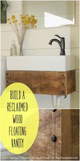 Diy Reclaimed Wood Floating Shelf by Reclaimed Wood Floating Vanity Floating Vanity Upcycle And Vanities
