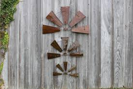Barn Door Wall Decor by Metal Rustic Half Windmill Wall Decor