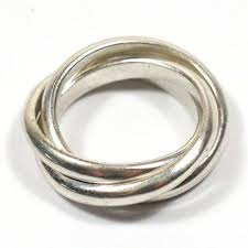 russian wedding band solid silver handmade chunky 3 band russian wedding ring