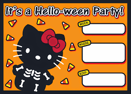 Printable Halloween Invites I Love Kawaii Free Printable Halloween Hello Kitty Invitation Set