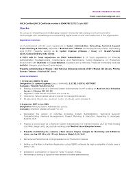 administration resume vmware linux administrator