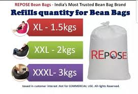how much beans required to fill xl bean bag quora