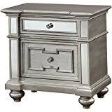 Silver Mirrored Nightstand Amazon Com Silver Nightstands Bedroom Furniture Home U0026 Kitchen