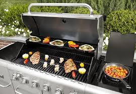 Backyard Grill 4 Burner Gas Grill by 6 Burner Stainless Steel Front Gas Grill Smoker W Cabinet Drawer