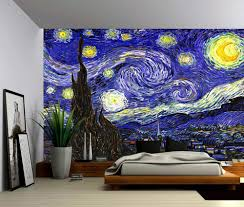 peel and stick vinyl wallpaper starry night vincent van gogh self adhesive vinyl wallpaper peel