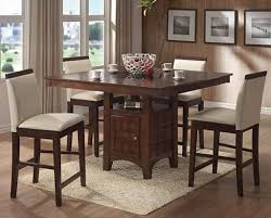 high dining room chairs counter height dining room table sets