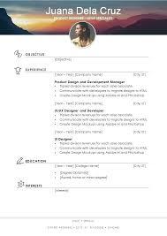 Elegant Resume Templates Resume Template Docx U2013 Inssite