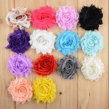 shabby chic flowers 2017 wholesale 2 5inch fabric flowers for headbands chiffon shabby