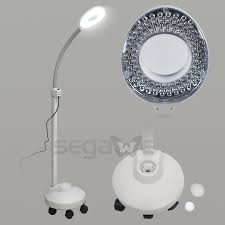 Led Magnifier Floor Lamp Segawe Floor Magnifier 5x Rolling Stand Magnifying Lamp Led Beauty