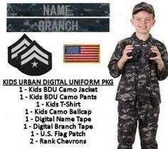 kids military uniform package acu digital products i love