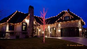 residential outdoor light display the rooftop is