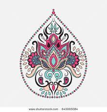 vector ornamental lotus flower ethnic stock vector 516177154