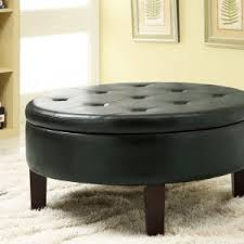 Table With Shelves Modern Leather Ottoman Coffee Table With Shelves And Wooden Leg