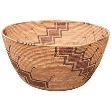 antique native american indian basket yokuts california 19th