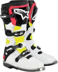 off road motorcycle boots alpinestars tech 8 light offroad motorcycle boot white yellow