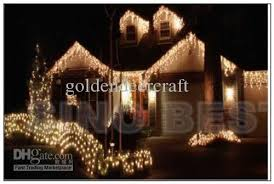 outdoor 110 led icicle lights warm white lighting