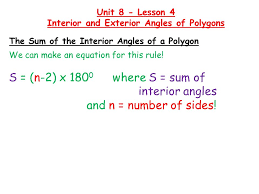 Formula For Interior Angles Of A Polygon Formula To Work Out Interior And Exterior Angles Of A Polygon
